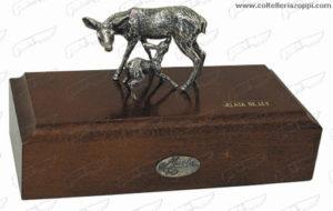 Cerva e Cucciolo - In Argento