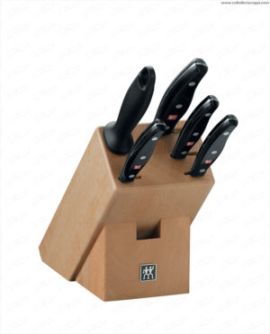 Ceppo di coltelli, legno naturale, 6 pz