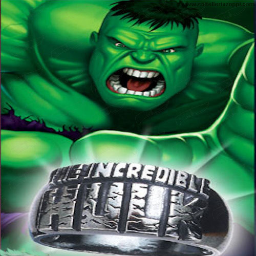 Anello Incredibile Hulk in Argento