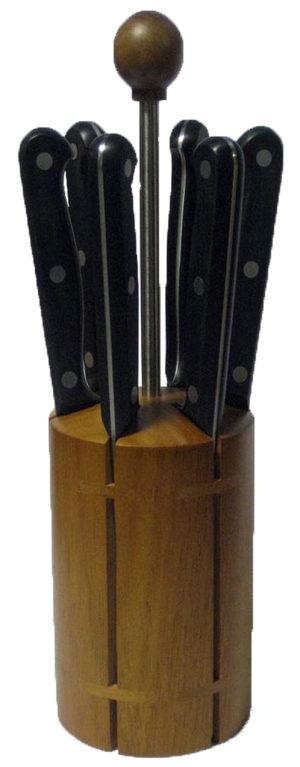 2C 305 Ceppo Coltelli da tavola lama liscia pz. 6