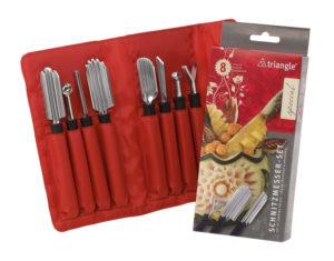 Triangle - Kit Speciale Decorazione Frutta e Verdura 8 pz in astuccio