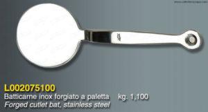 Batticarne a paletta in acciaio Inox forgiato - 1.1 Kg