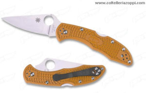 SPYDERCO - Coltello Chiudibile DELICA 4 FLAT GROUND ORANGE- C11FOR