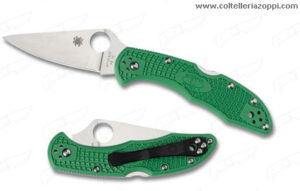 SPYDERCO - Coltello Chiudibile DELICA 4 FLAT GROUND GREEN - C11FOGR