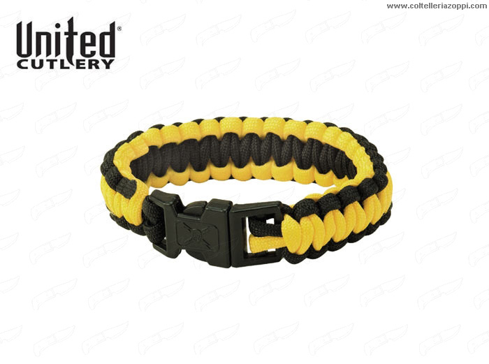 UNITED CUTLERY - Bracciale Paracord Sopravvivenza United Elite Forces Survival Bracelet Yellow