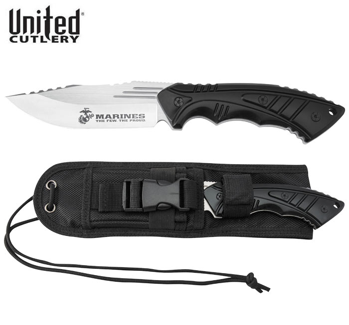 UNITED CUTLERY - Coltello Militare USMC COMBAT FIELD FIGHTER SILVER