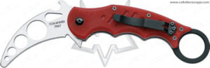 479TK - FOX FOLDING TRAINING KARAMBIT RED - Coltelli Militari