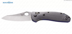 BENCHMADE - Griptilian  Grey/Blue Sheepsfoot -