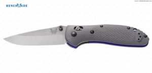BENCHMADE - Griptilian Grey/Blue Drop Point -