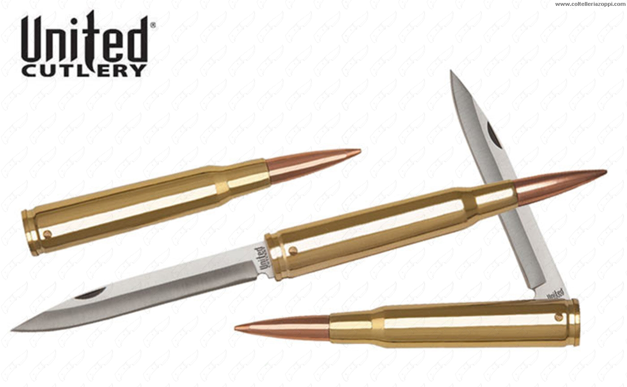 UNITED CUTLERY - BULLET 50 CAL. FOLDING KNIFE  -