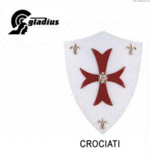 """GLADIUS - MINI SCUDO LEGNO """"CROCIATI"""" -"""